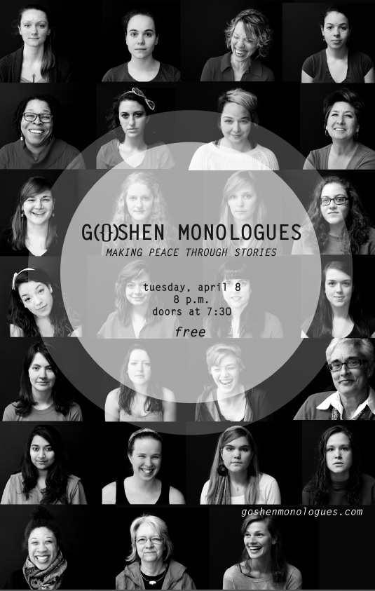 goshen monologues poster